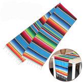 35 x 213 cm 5 pezzi messicano coperta da tavolo bandiera stuoia da picnic per viaggi coperte da spiaggia asciugamano auto coperte