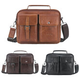 Mens Business Satchel Tote Handbag Leather Laptop Bag Travel Shoulder Bag
