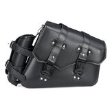 Motorcycle Saddle Bag PU Leather Waterproof Saddlebags Black Left/Right Side For Harley Davidson Universal