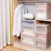 Stackable Minimalist Saving Space Case Plastic Storage Box Bag Container Drawer Saving Space Clothing Organizer for Bra Clothing Shoes