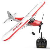 Volantex Sport Cub 500 761-4 500mm Envergadura 4CH One-Key Aerobatic Beginner Trainer RC Planador Avião RTF Construído em Giroscópio de 6 Eixos
