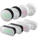 LED Alarm Clock Mirror Digital Display Table Suhu Tunda USB Pengisian keajaiban