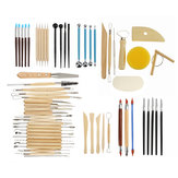 13Pcs / 38Pcs / 61Pcs Pottery Clay Sculpting Wax Carving Pottery Modeling Tool Set
