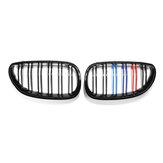 Carro gloss preto m-color frente rim grade grade para bmw e60 e61 03-10