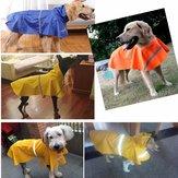 Capa de chuva para cães Impermeável Ao ar livre Casaco de chuva Casaco Casaco Velo Refletivo Seguro