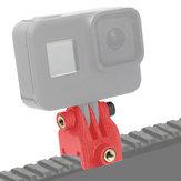 Para GOPRO / EKEN Guía de montaje de cámara de acción Adaptador de riel de plomo Soporte de abrazadera de forma deslizante Base de zapata fría Impreso en 3D para FPV Drone Gimbal