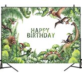 Dinosaur Forest Theme Birthday Backdrop Vinyl Studio Backdrop Photography Props Photo Background Decorations