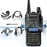 6 en 1 BAOFENG UV-9R Plus 10W VHF UHF Walkie Talkie Dual Banda Dos vías Radio AU Plug con altavoz MIC y Auricular y Cable de programación y antenas de 48 cm