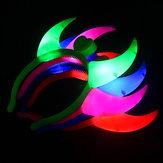 OxHorn Halloween Party Glühendes Licht LED Blinkende Stirnbänder Weihnachtsfeier Bar Cosplay Requisiten Liefert Beleuchtung Stirnband