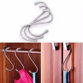 10 PCS S Shape Hooks Stainless Steel Bathroom Hanger Clasp Rack Robe Hook Protective