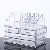Large Capacity Transparent Acrylic Desktop Makeup Cosmetics Storage Box Jewelry Organizer Acrylic Display Box Storage with Drawers