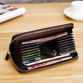 Men Faux Leather Multi-Pocket Phone Bag Thin Wallet