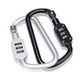 Naturehike D Shape Code Lock Anti-theft Zinc Alloy Backpack Lock Mini Carabiner Hook