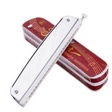 QIMEI M1015 24 Holes Chromatic Harmonica C Key for Adults
