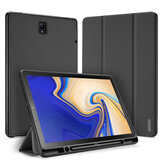 Tri-Fold Pen With Pen Hole Tablet Case Cover for Samsung TAB S4 10.5