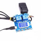Moduł kontroli temperatury i wilgotności Przełącznik Cyfrowy wyświetlacz Podwójne wyjście Automatyczna stała tablica przyrządów z czujnikiem