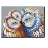 50*70CM Kissed Owl Couple Canvas Print Picture Wall Hang Art Home Wedding Decorations
