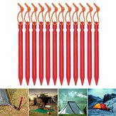 12PCS Aluminum Alloy Tent Nail Pegs Stakes With Rope Lightweight Camping Outdoor