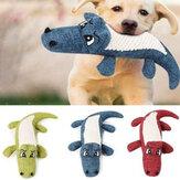 Durable Perro Chew Sound Squeaky Toy Juguetes resistentes a la mordedura Lino de felpa Juguetes para mascotas Cachorro