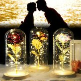 Romantic Eternal Rose Flower LED String Night Light Prezent na urodziny Ślub Walentynki