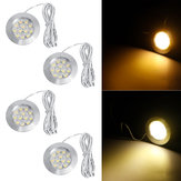 4PCS Blanco cálido 2M 12V LED Down Lights Cabin Ceiling Lamps para RV Trailer barco