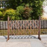 ポータブルフェンス木製スクリーンゲートペット犬パティオガーデン芝生の障壁を拡大する装飾〜