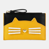 Women Fashion Cute Cat Card Holder Zipper Coin Bag Wallet