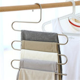 Mrosaa 5 layers S Shape MultiFunctional Clothes Hangers Pants Storage Hangers Cloth Rack Multilayer Storage Cloth Hanger