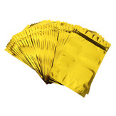 100pcs Gold Aluminum Foil Stand Up Bags Zip Lock Mylar Pouches 12×20cm