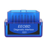 EEOBD E01 ELM327 BT3.0 Strumento di interfaccia diagnostica Bluetooth OBD2 Scanner Lettore codice difetto per auto 12V