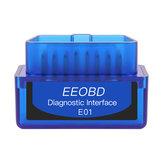 EEOBD E01 ELM327 BT3.0 bluetooth Diagnostic Interface Tool OBD2 Scanner Fault Code Reader for 12V Car