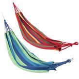 Dubbele grote schommel hangmat Canvas Camping Hang Bed Tuin Reizen Strand Buitenstoel