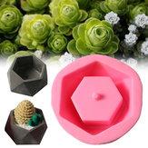 اليدوية سيليكون اناء للزهور العفن 3D هندسي ملموسة الغراس عصاري الغراس
