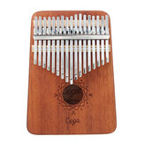 Cega 17 Key Mahogany Kalimbas Thumb Piano Finger Percussion Style nordique avec accordage Hammer