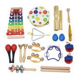 SY-60 19 pièces Orff Instruments Set Instrument d'illumination de l'éducation précoce pour les enfants