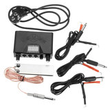 Tattoo Power Supply Kit Digital LED Display Machines Foot Pedal 2 Clip Cords