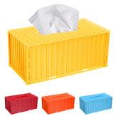 Servilleta de pañuelos Caja Contenedor de envío Cubierta de papel Soporte de almacenamiento Oficina en el hogar Coche Caso