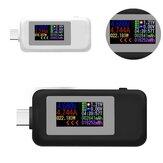 Tip-C Renk Ekran USB Test Cihazı 0-5A Akım 4-30 V Gerilim USB Şarj Cihazı Güç Ölçer Cep Batarya Dedektör
