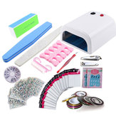 Nail Tools Set UV LED Lamp Gel Polish Dryer Clippers