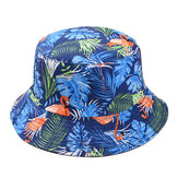 Unisex Men Women Ins Printed Bucket Hat Outdoor Fishing Camping Fisherman Cap