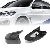 A Pair Replacement Plastic Gloss Rear Side Car Mirror Cover For BMW X3 - X6 G01 2018 +