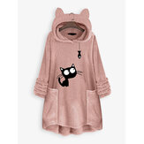 Cat Embroidery Casual Sweatshirts