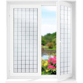 曇らされたプライバシーガラスフィルムしがみつく抗UVカバードア窓ステッカーホームデコレーション