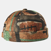 Abstrakte Muster randlose Hüte Schädelkappe mehrfarbig Soft Filz angepasste Hüte