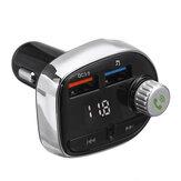 ワイヤレスBluetooth車MP3プレーヤーFMトランスミッタラジオLCD SDデュアルUSB車の充電器キット