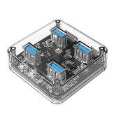 ORICO 4 Ports USB3.0 Transparent HUB Adapter For iPhone 8 Plus XS 11 Pro Huawei P30 Pro Mi9 9Pro S10+ Note10