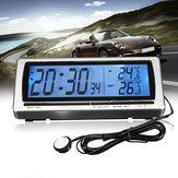 Thermomètre hygromètre horloge numérique voiture 12V