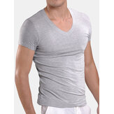 Mens Modal Breathable Undershirt Casual Home Comfy Underwear