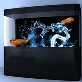 Water Dragon Aquarium Background HD Fish Tank Landscape Fish Tank Decorations