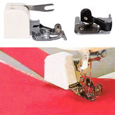 1 Side Cutter Zig Zag Sewing Machine Attachment Presser Foot Low Shank Cut & Hem Sharp